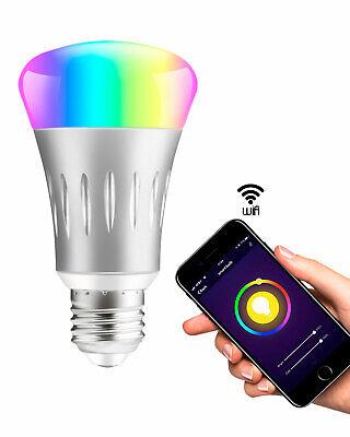 5 Pack WiFi Smart Light Bulb Bulbs Dimmable LED E27 W/ Google Home /Alexa/IFTTT 2