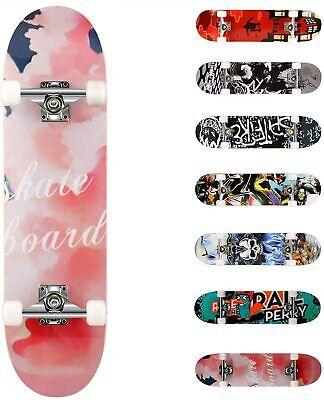 Skateboard per Bambini Ragazzi  Skate In Legno Varie Fantasie Colorato 43cm dfh