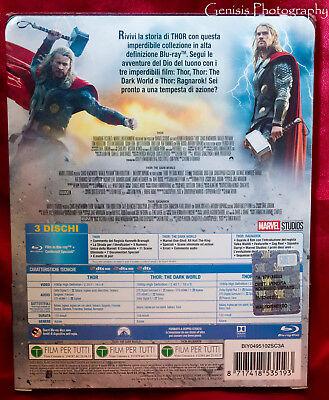 Thor Trilogy Edición Limitada Caja Metálica Blu-Ray Importación - Region Free + 3
