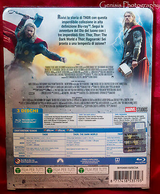 Thor Trilogy Limited Edition Steelbook Blu-Ray Import - Region Free + Art Cards 3