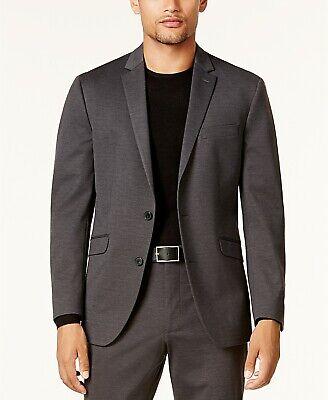 $400 Kenneth Cole Slim-Fit Charcoal Knit Flex Suit Mens 38S Pants 31 x 32 NEW 3