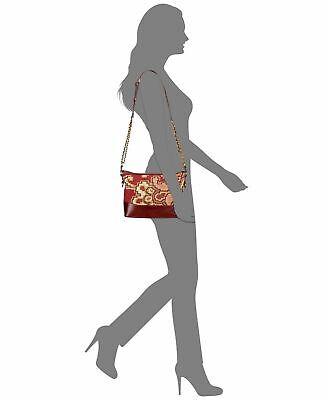 NWT Patricia Nash Crossbody Bag Shoulder Handbag Tapestry Leather burgundy brown 6