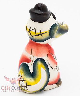 Crocodile Gena Alligator Gzhel porcelain figurine handmade Крокодил Гена