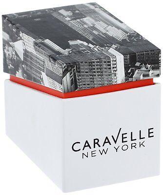 Caravelle New York Women's 44L218 Quartz Crystal Melon Dial Gold-Tone 36mm Watch 4