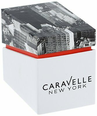 Caravelle New York Women's 44N107 Quartz White Date Dial Gold-Tone 30.5mm Watch 2