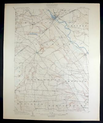 1904 Carthage New York Lowville Rare Antique 15-minute USGS Topographic Topo Map 2