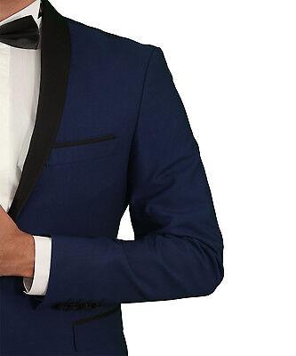 3 von 12 Slim Fit Herren Smoking in Blau•Bordeaux•Grau•Schwarz-Herrenanzug- Anzug eb47e02c74