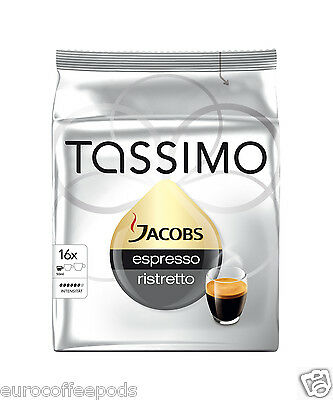 Tassimo Jacobs Espresso Ristretto Coffee 2 Pack 32 T-Discs / Servings