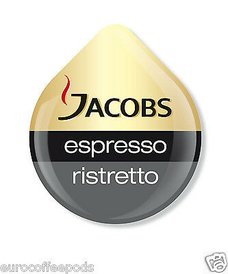 Tassimo Jacobs Espresso Ristretto Coffee 2 Pack 32 T-Discs / Servings 5