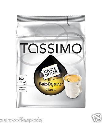 Tassimo Carte Noire Petit Dejeuner Coffee 16 T disc / Servings 2