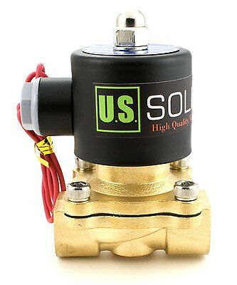 U.S. Solid 1/2'' Brass Electric Solenoid Valve 12V DC Normally Closed Air Water