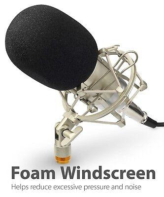 Professional Podcast Studio Condenser Microphone Recording Mic Kit Shock Mount