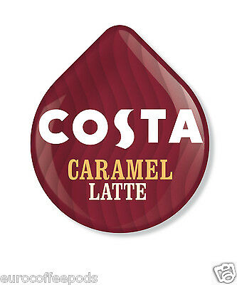 Tassimo Costa Caramel Latte Coffee 48 T Discs 24 Servings Sold Loose 3