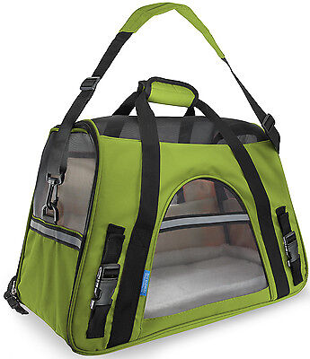 OxGord Pet Carrier Soft Sided Cat Dog Comfort Travel Tote Bag Airline Approved
