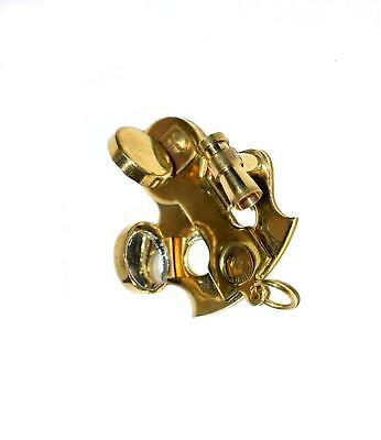 Nautical Gift Decor Brass Sextant Keychain 4