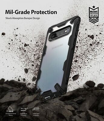 For Samsung Galaxy S10 Plus Case Ringke [FUSION-X] Shockproof Armor Bumper Cover 9