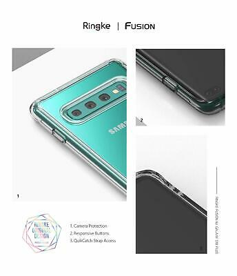 Galaxy S10 5G S9 S8 Plus S10e Case Genuine RINGKE FUSION Clear Cover For Samsung 11