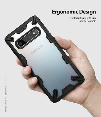 For Samsung Galaxy S10 Plus Case Ringke [FUSION-X] Shockproof Armor Bumper Cover 8