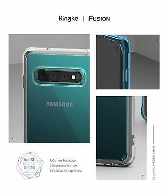 Galaxy S10 5G S9 S8 Plus S10e Case Genuine RINGKE FUSION Clear Cover For Samsung 4