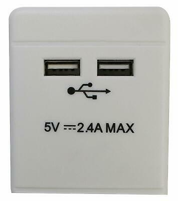 5 Way Gang 2m Switched Surge Protect Extension Lead with 2 USB Ports Portable UK 4