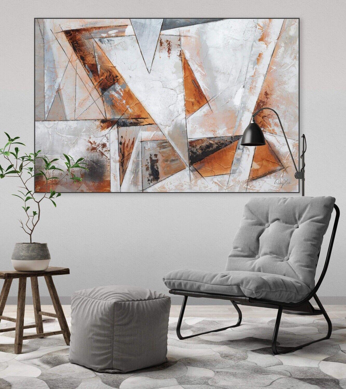 Acryl Gemälde 'GIER NACH FREIHEIT' | HANDGEMALT | Leinwand Bilder 120x80cm 5