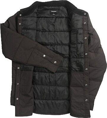 2f72f5f643 ... Brixton CASS JACKET Black Black Quilted Corduroy Collar Snap Close  Men's Jacket 2