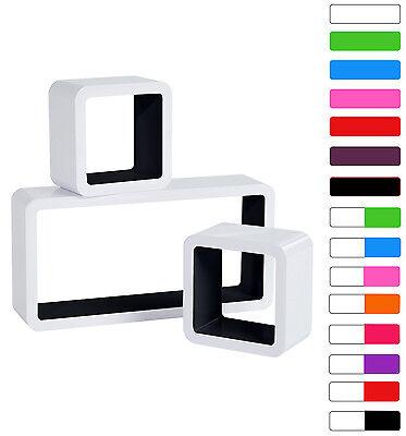 Floating Wall Mount Shelf Cube Storage Display Shelves Set Of 3 Modern Design 4