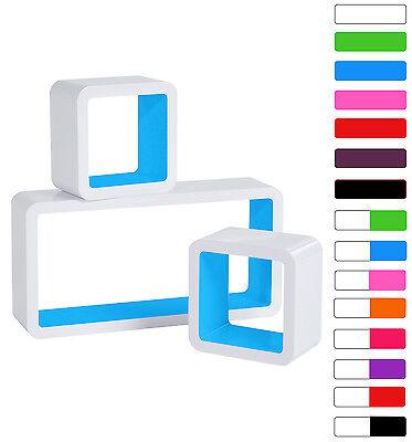 Floating Wall Mount Shelf Cube Storage Display Shelves Set Of 3 Modern Design 5