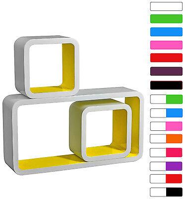 Floating Wall Mount Shelf Cube Storage Display Shelves Set Of 3 Modern Design 6