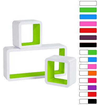 Floating Wall Mount Shelf Cube Storage Display Shelves Set Of 3 Modern Design 9