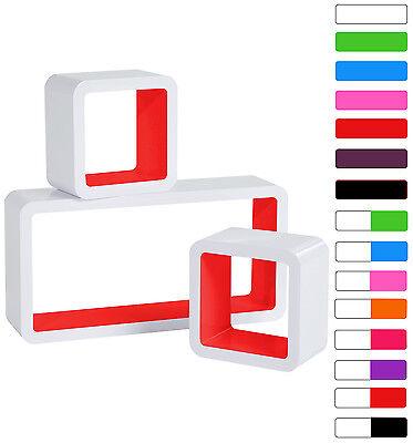 Floating Wall Mount Shelf Cube Storage Display Shelves Set Of 3 Modern Design 7