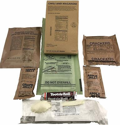Sopakco Case of 12 MRE Meals Ready To Eat Emergency Food Rations - In Stock AL 4