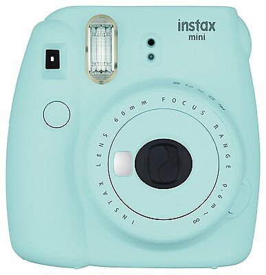 Fujifilm Instax Mini 9 Instant Camera Ice Blue + 20 Film + Sky Case Acc Bundle