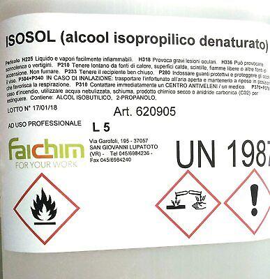 Alcool Isopropilico Bottiglia 5Lt Pulizia Plastica Vetri Ottiche Ossido Alcol 9