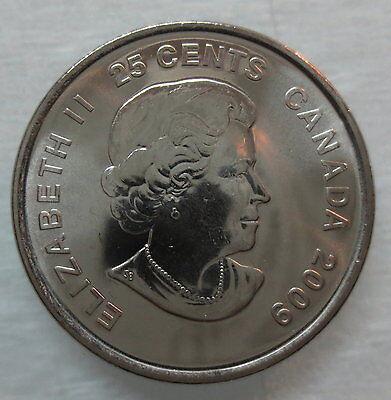 2009 Canada 25¢ Olympic Men's Hockey Coloured Brilliant Uncirculated Quarter 2