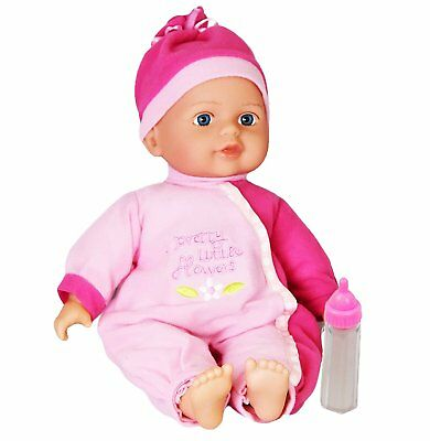 """12"""" Baby Doll with Sounds New Born Soft Bodied Doll Girls Pretend Play Toy"""
