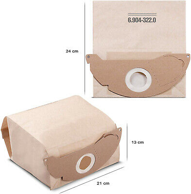 Staubsaugerbeutel für Karcher 6.959-130.0 6.904-322.0 Papiertüten Filter MV4 MV3 8