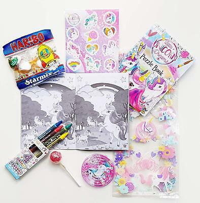 1 x UNICORN THEMED PRE FILLED KIDS GIRLS PARTY LOOT BAGS FOR BIRTHDAYS 2
