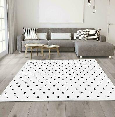 Grey & White Mat Kids Living Room Play Yoga Gym Exercise Gym Fitness Rug Carpet 5
