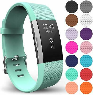 For FITBIT CHARGE 2 strap Replacement Wrist Band Wristband Metal Buckle 4