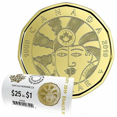 2019 Canada $1 Equality BU Loonie From Special Wrap Roll Coin 3