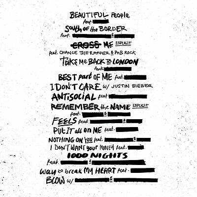 ED SHEERAN No.6 COLLABORATIONS PROJECT CD (Released JULY 12 2019) 2