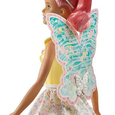 Barbie FXT03 Dreamtopia Fairy Doll - Pink Haired Doll with Yellow Dress 3