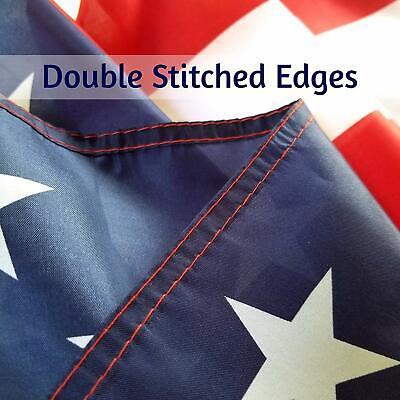 3x5 ft US American Flag Heavy Duty Nylon Print Stars Sewn Stripes Grommets 9