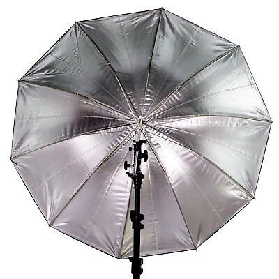 60 in. Black/Silver Reflective Photo Studio Lighting Umbrella 10 Panels 3