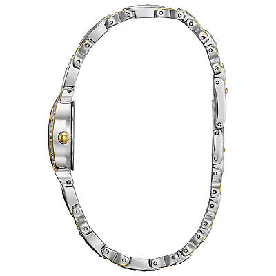 Bulova Women's 98L005 Quartz Silver and Gold Tone Crystal Accents 22mm Watch 3