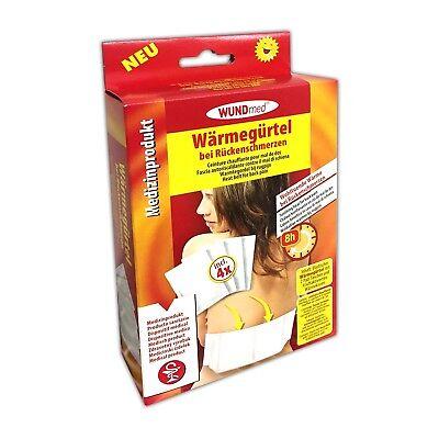 4x Elastischer Wärmegürtel inkl 16 Wärmepads | Rücken Bandscheibe Wärmekissen