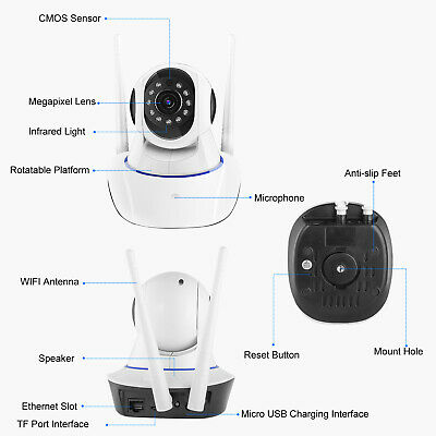 720P/1080P Wireless IP Security Camera Indoor CCTV Home Smart Wifi Baby Monitor 10
