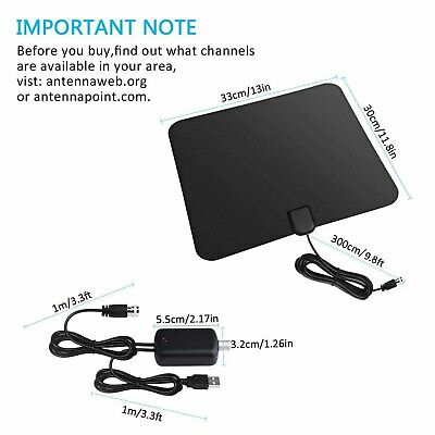 [350 Miles] Clear Indoor Digital TV HDTV Antenna [2019 Latest] UHF/VHF/1080p 4K 9