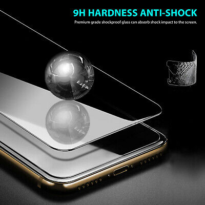 2X iPhone X XS Max XR 8 7 6 6S Plus 9H Tempered Glass Screen Protector For Apple 2